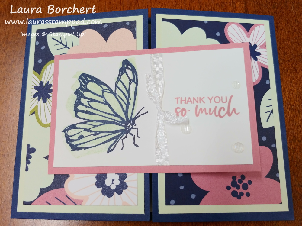Butterfly, Hummingbird, and Flower Stamped Images, www.LaurasStampPad.com