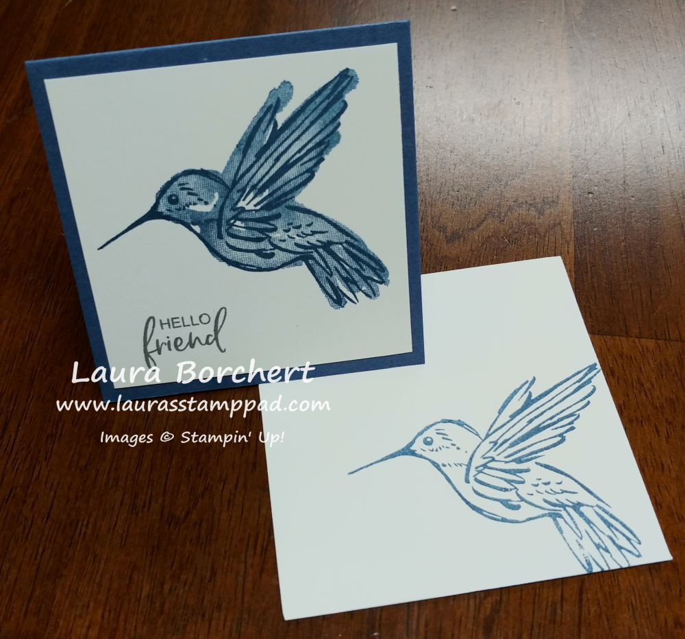 Hummingbird Mini Card, www.LaurasStampPad.com