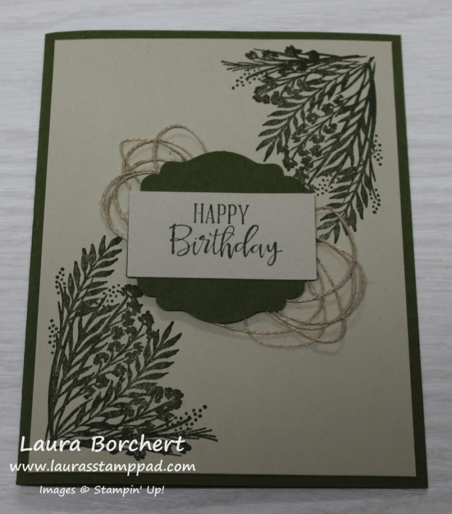 Simple Masculine Card, www.LaurasStampPad.com
