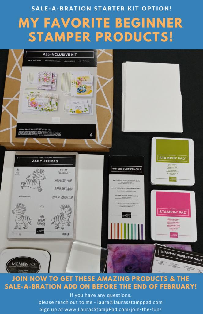 My Starter Kit Picks for A Beginner Stamper, www.LaurasStampPad.com