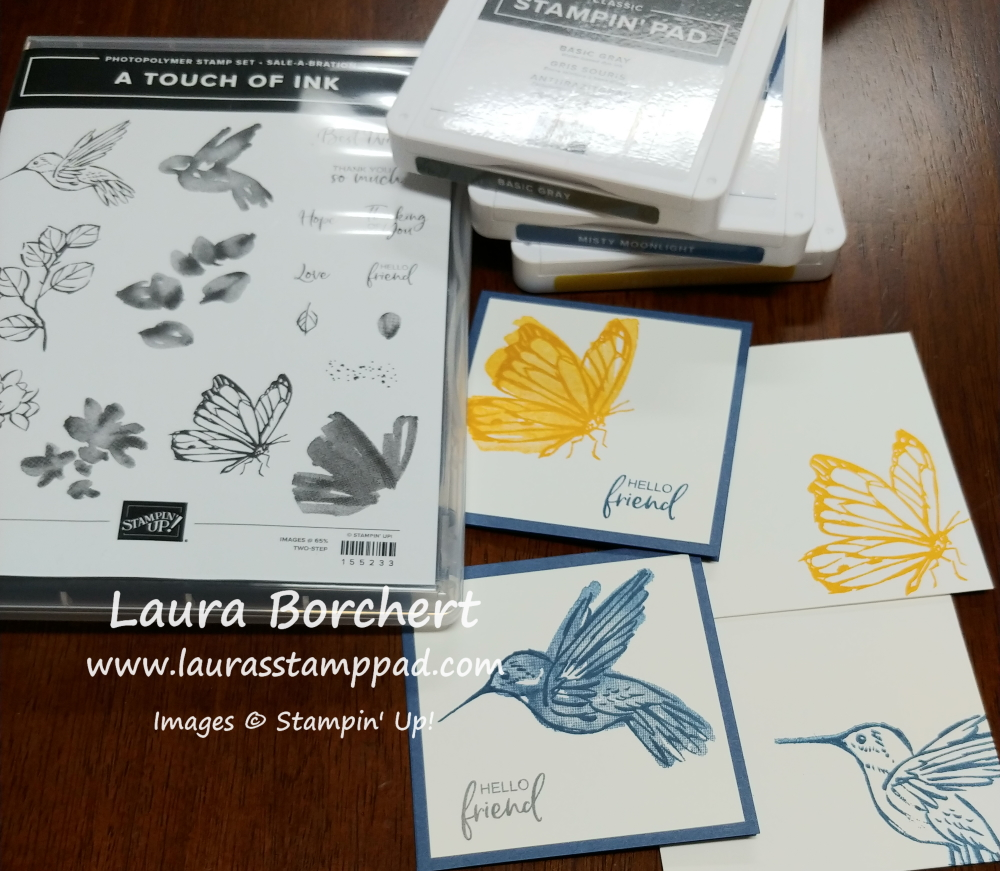 All you need is stamps, ink, and paper, www.LaurasStampPad.com
