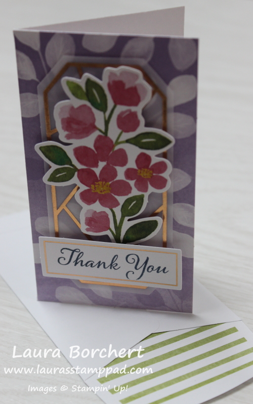 Easy Mini Thank You Card, www.LaurasStampPad.com