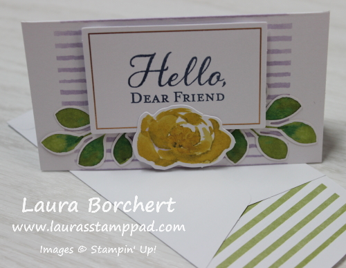 Hello Dear Friend Mini Card, www.LaurasStampPad.com