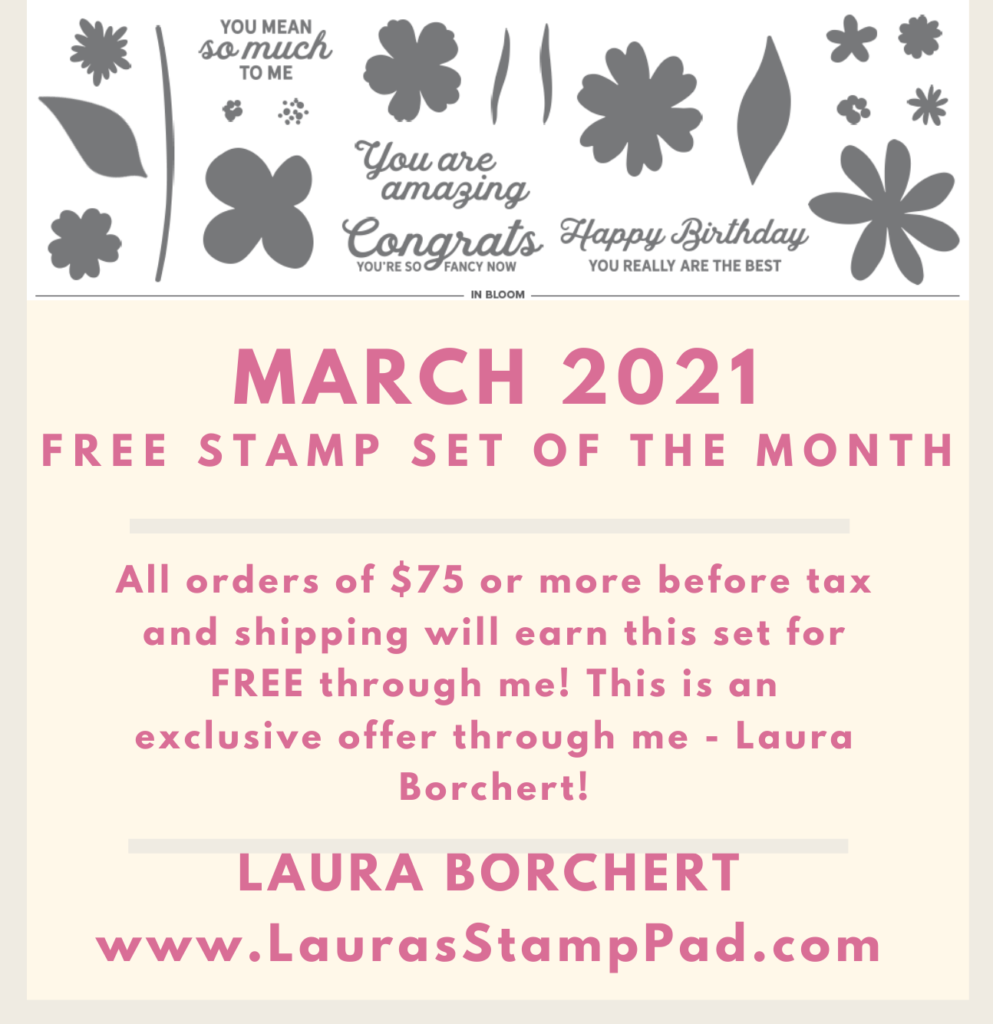 March 2021 Stampin' Up Specials, www.LaurasStampPad.com