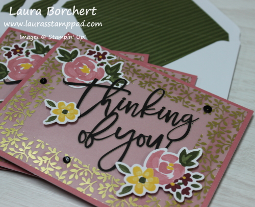 Thinking of You Stampin' Up Greeting Card, www.LaurasStampPad.com