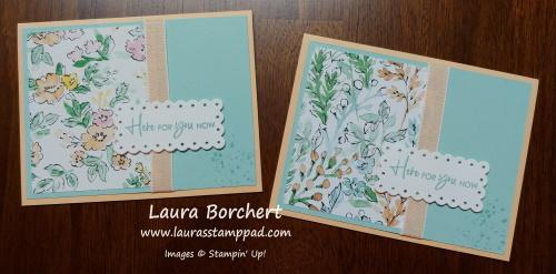 Hand Penned Designer Series Paper Stampin' Up, www.LaurasStampPad.com