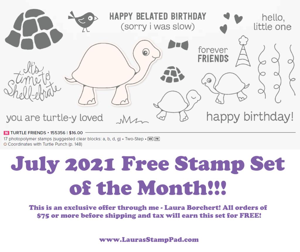 Stampin' Up! Turtle Friends Stamp Set, www.LaurasStampPad.com