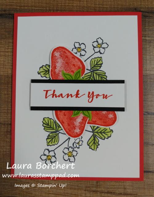Sweet Strawberry Stampin' Up Stamp Set, www.LaurasStampPad.com