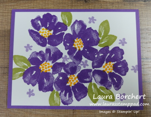 Flowers of All Colors, www.LaurasStampPad.com