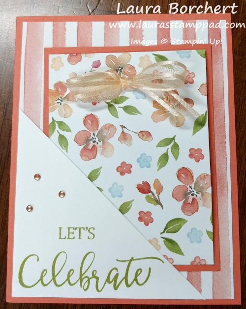 Celebrating Pockets Greeting Card, www.LaurasStampPad.com