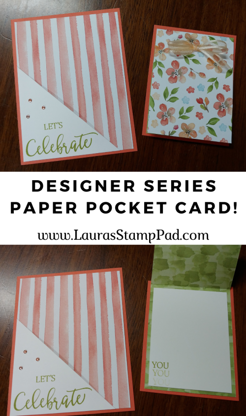 You're A Peach Designer Series Paper Stampin' Up, www.LaurasStampPad.com