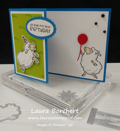 Sheep Party Stampin' Up Sale-A-Bration, www.LaurasStampPad.com