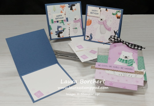 Penguin Playmates Designer Paper, www.LaurasStampPad.com