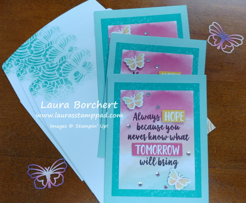 Hope and Butterfly Greeting Cards, www.LaurasStampPad.com